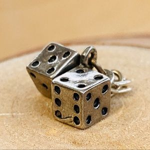 Vintage   Sterling Silver   Dice Charm
